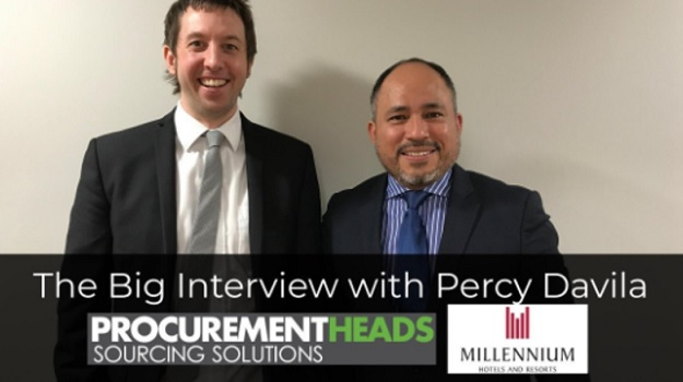 The Big Interview with Percy Davila - Vice President Procurement - Europe at Millennium Hotels & Resorts.